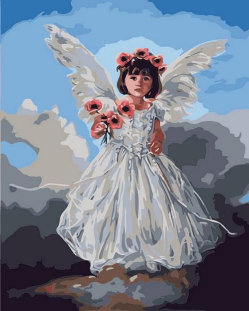 Angel Flower Girl - DIY Paint By Numbers Kit