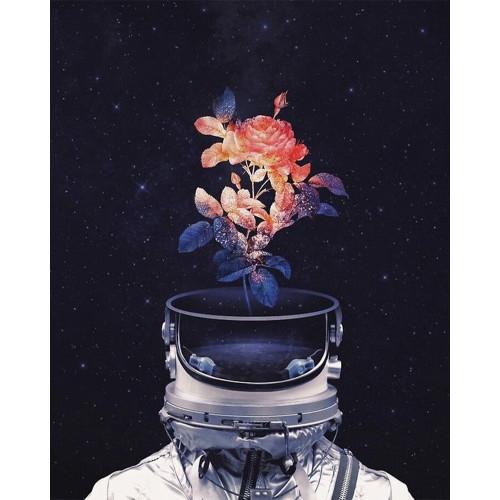 Spaceman Flower - DIY Paint By Numbers Kit
