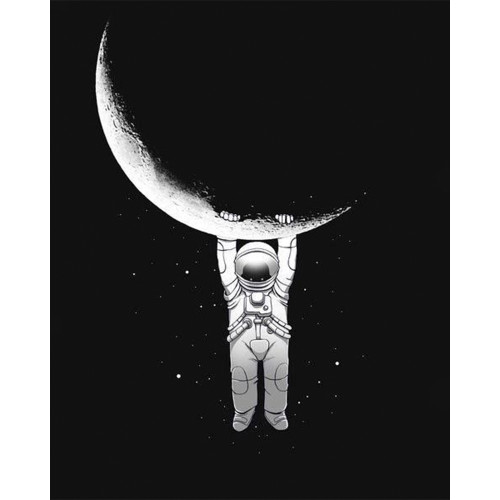 Hangin' On The Moon - DIY Paint By Numbers Kit