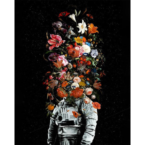 Space Flower Bouquet - DIY Paint By Numbers Kit