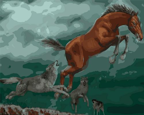 Horse Runner - DIY Paint By Numbers Kit