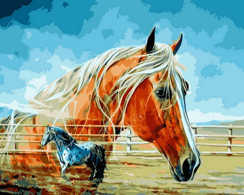 Horse In Nature - DIY Paint By Numbers Kit