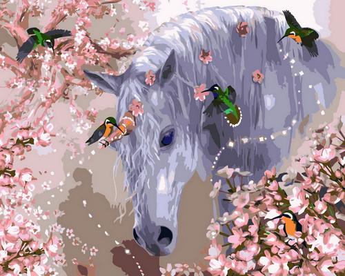 Horse & Butterflies - DIY Paint By Numbers Kit