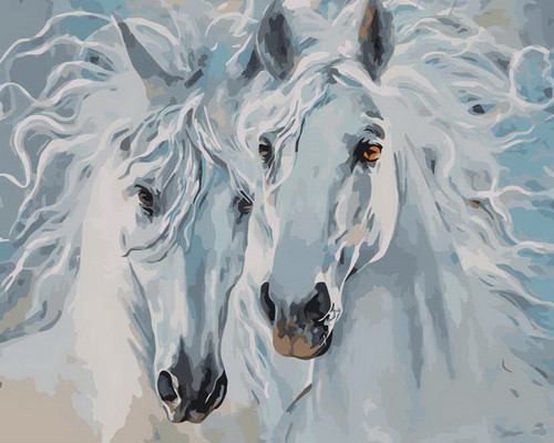 Luscious Horse Hair Duo - DIY Paint By Numbers Kit