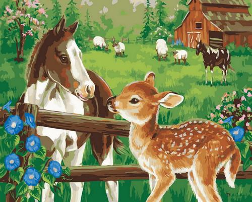 Horse & Deer - DIY Paint By Numbers Kit