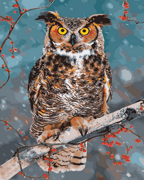 Owl In A Tree - DIY Paint By Numbers Kit