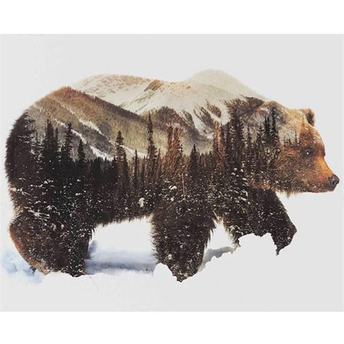 Bear One With Nature - DIY Painting By Numbers Kit