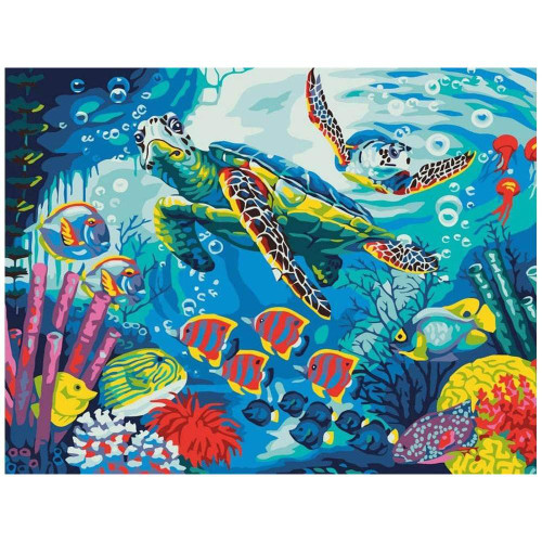 Underwater World 2 - DIY Painting By Numbers Kit