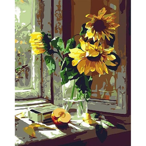 Wilting Sunflowers - DIY Painting By Numbers Kit