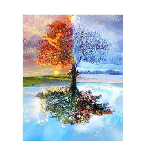 Four Season Tree - DIY Painting By Numbers Kit