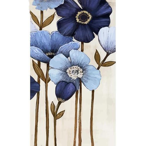 Blue Violet Flowers - DIY Painting By Numbers Kit
