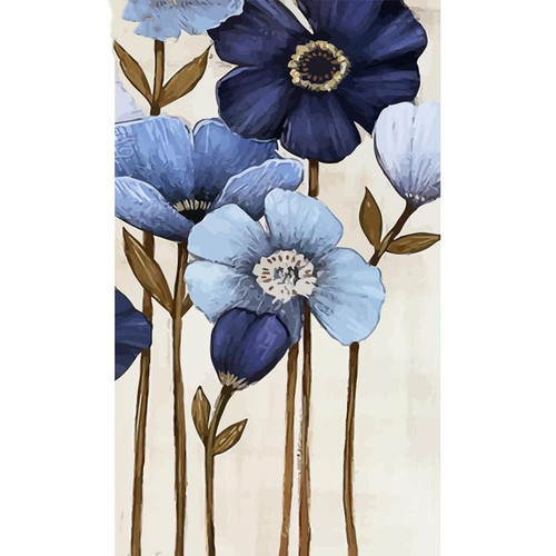 Blue Violet Flowers - DIY Painting By Numbers Kit