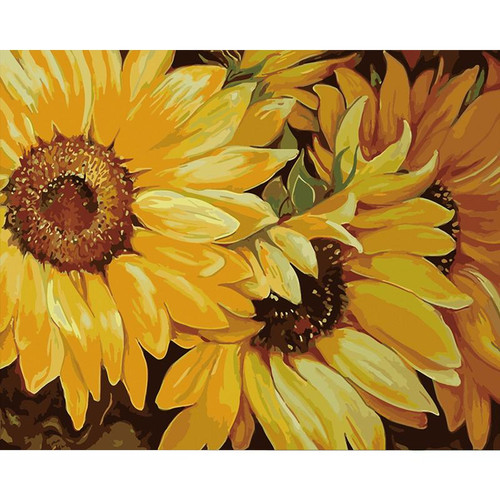 Sunflower Elegance - DIY Painting By Numbers Kit