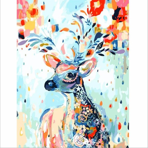A Colorful Deer Painting - DIY Painting By Numbers Kit