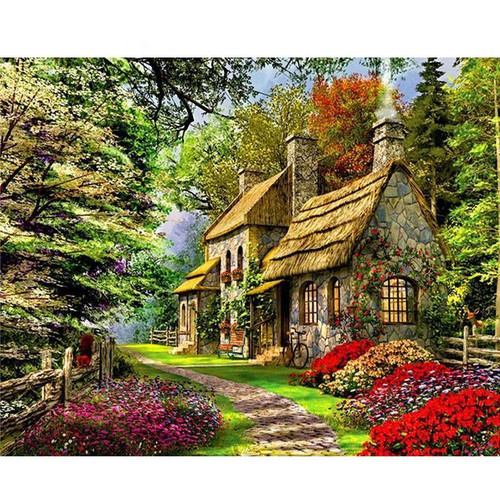 House In A Jungle - DIY Painting By Numbers Kits