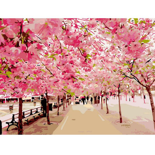 Cherry Blossom - DIY Painting By Numbers Kit