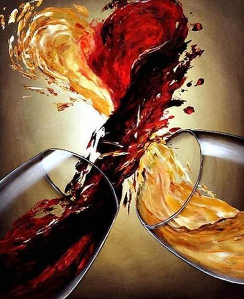 Wine Love - DIY Painting By Numbers Kit
