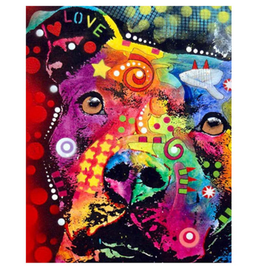 Dog Vibes - DIY Painting By Numbers Kit