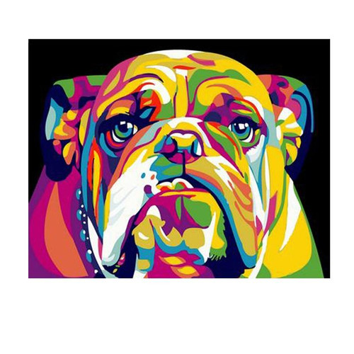 Acrylic Bulldog - DIY Painting By Numbers Kit