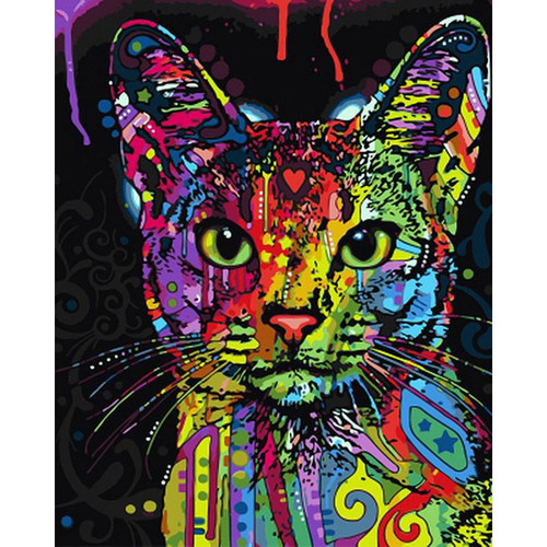 Colorful Cat - DIY Painting By Numbers Kit