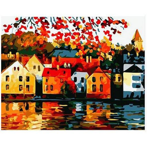 Colorful Village - DIY Painting By Numbers Kit