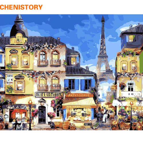 Paris City - DIY Painting By Numbers Kit