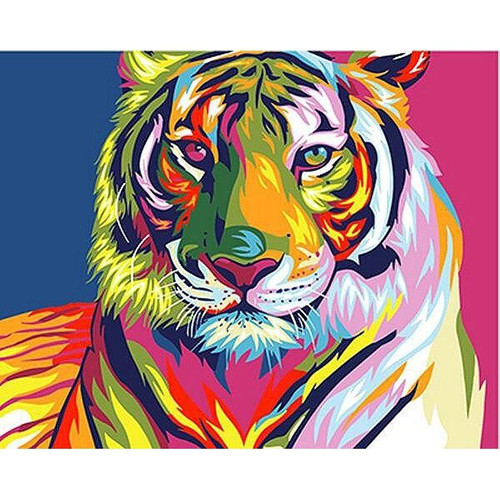 Tiger in Color - DIY Painting By Numbers Kits