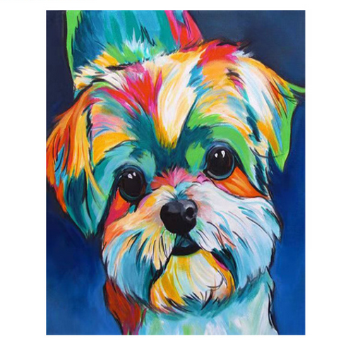 Cute Shih Tzu - DIY Painting By Numbers Kit