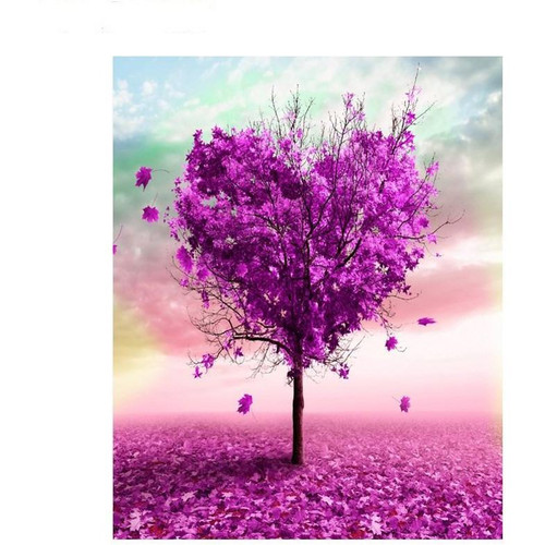 Heart Bougainvillea Tree - DIY Painting By Numbers Kit