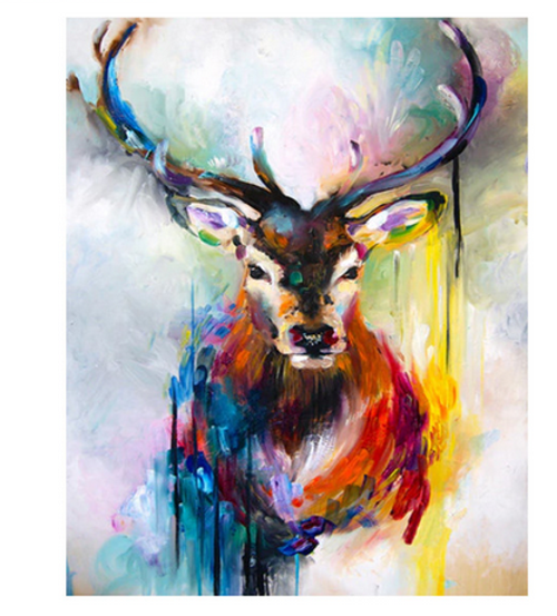 Deer Watercolors - DIY Painting By Numbers Kit