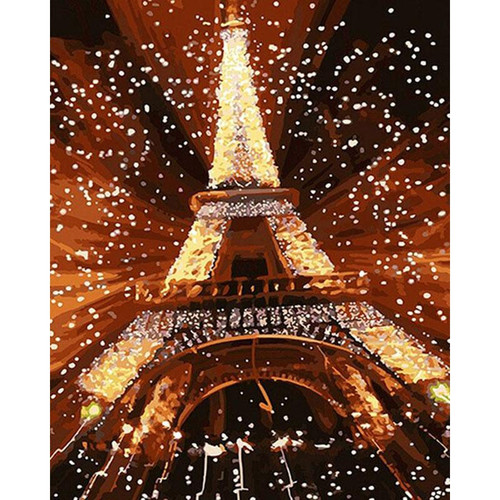 Abstract Eiffel Tower - DIY Painting By Numbers Kit