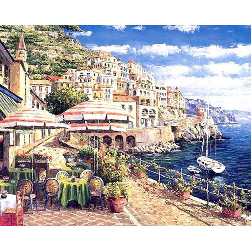 Amalfi Coast, Italy - DIY Painting By Numbers Kit