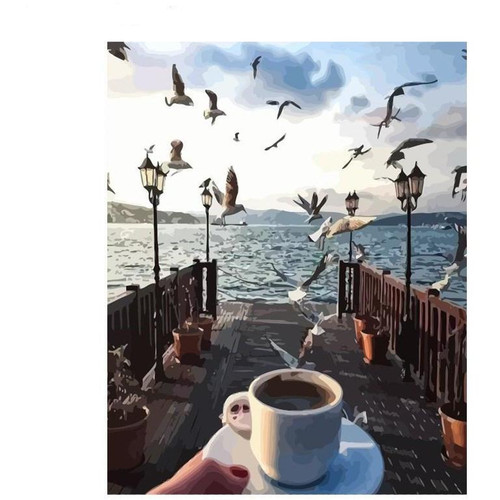 Coffee With a View - DIY Painting By Numbers Kit