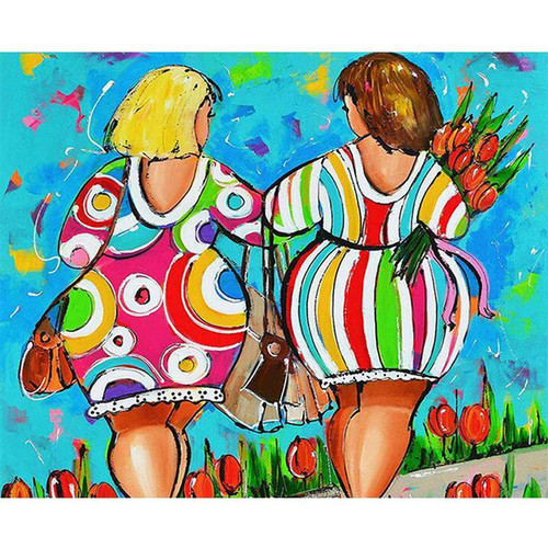 Two Curvy Women - DIY Painting By Numbers Kit