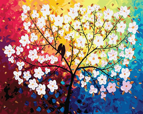 Birds In Tree - DIY Painting By Numbers Kit