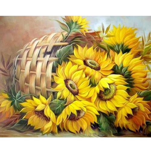 Fallen Flower Basket - DIY Painting By Numbers Kits