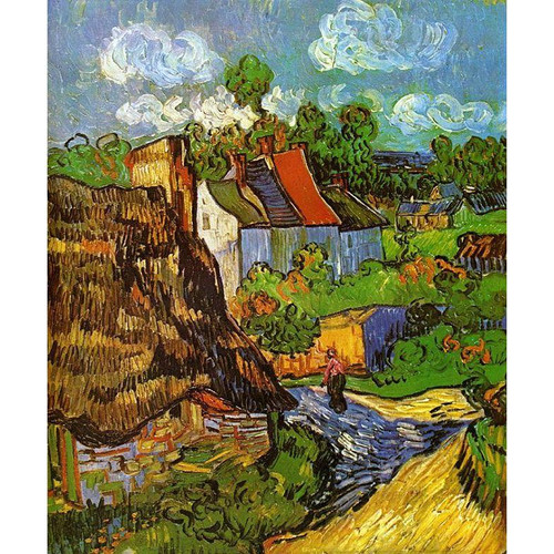 Vincent van Gogh - Houses in Auvers - DIY Painting By Numbers Kit