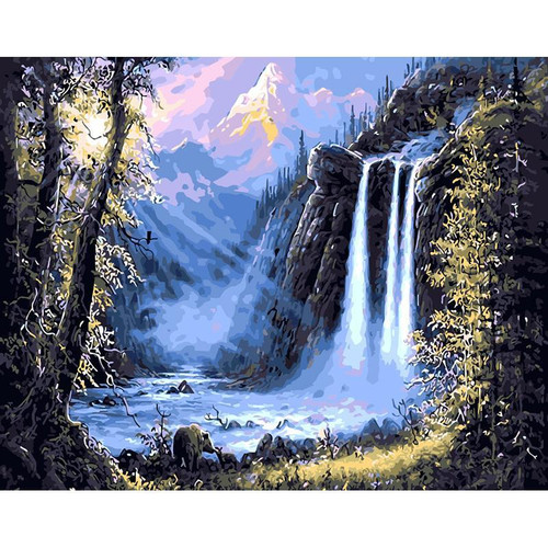 Beautiful Waterfalls - DIY Painting By Numbers Kit
