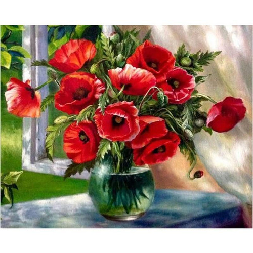 Almost Wilting - DIY Painting By Numbers Kit