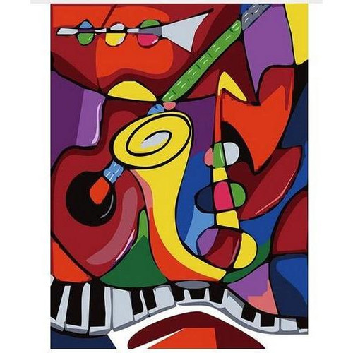 Abstract Modern Art - DIY Painting By Numbers Kit