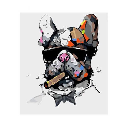 Colorful Thug Dog - DIY Painting By Numbers Kit