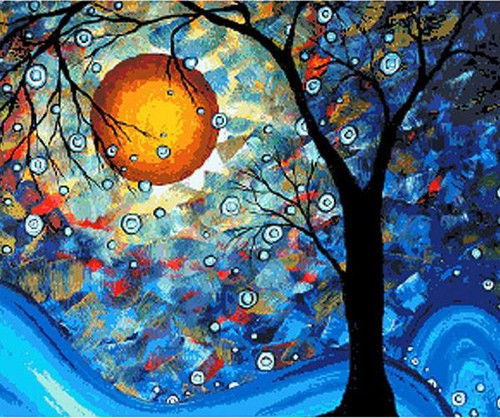Colorful Tree - DIY Painting By Numbers Kit