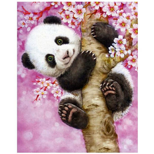 Panda Perched - DIY Painting By Numbers Kit