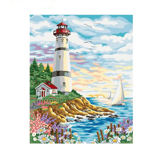 Lighthouse - DIY Painting By Numbers Kit
