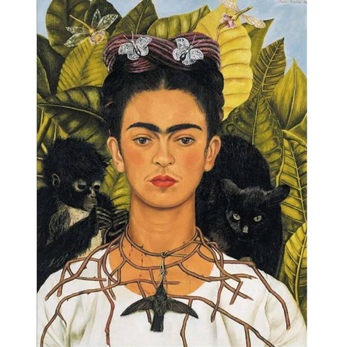 Self Portrait with Necklace of Thorns, Frida Kahlo - DIY Painting By Numbers Kit