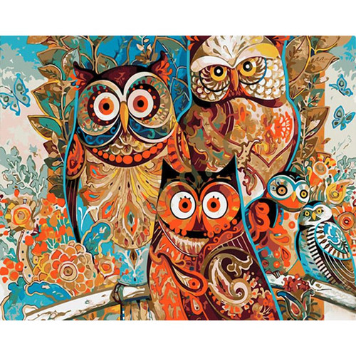 Boho Owls - DIY Painting By Numbers Kit