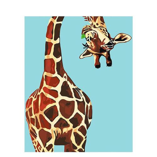 Playful Giraffe - DIY Painting By Numbers Kit