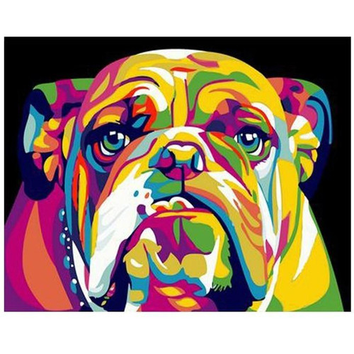 Colorful Dog 2 - DIY Painting By Numbers Kits