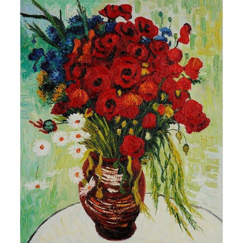 Vincent van Gogh - Vase with Daisies and Poppies - DIY Painting By Numbers Kit