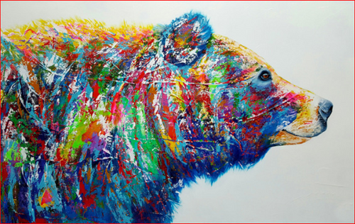 Bear Colors - DIY Painting By Numbers Kit